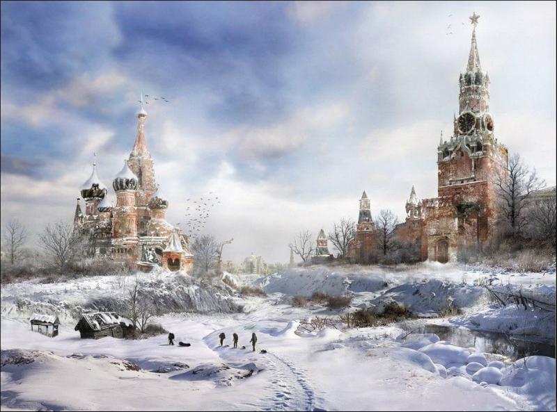 Представления художников о конце света. Кремль.