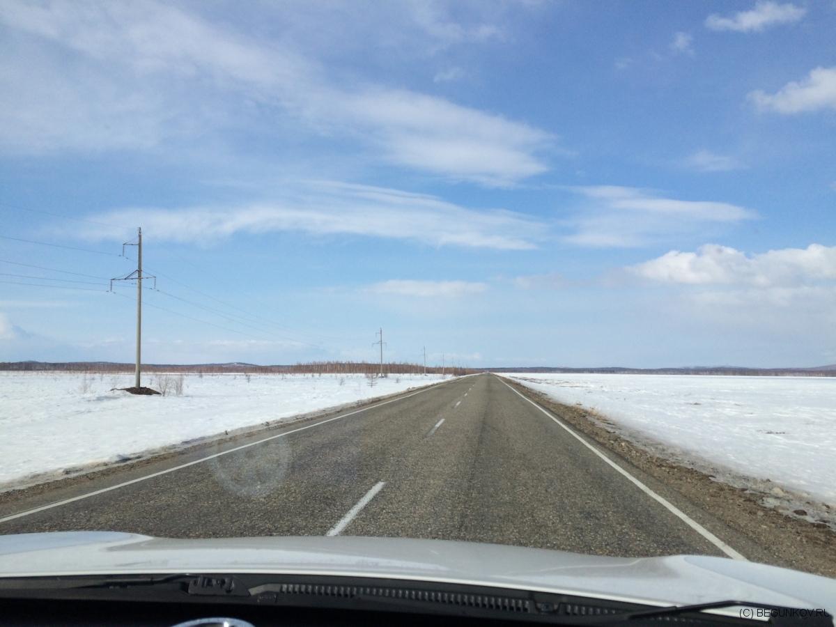 Автодорога Хабаровск-Комсомольск. Хорошая.