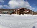 ГЛК Холдоми. Панорама на коттеджный поселок у подножия горы