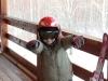 Ваня был в ударе после спуска с горы. Вот всем показал какой он крутой.