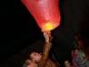 Салют в честь 155 -летия Хабаровска, запуск красного фонаря