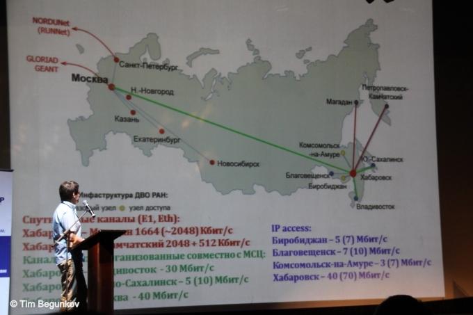 По сравнению с пропускной способностью аналогичных сетей других развитых стран России есть куда стремиться. Данное обстоятельство мешает нашим научным организациям активно участвовать в разлиных научных экспериментах известных всемирных проектов.