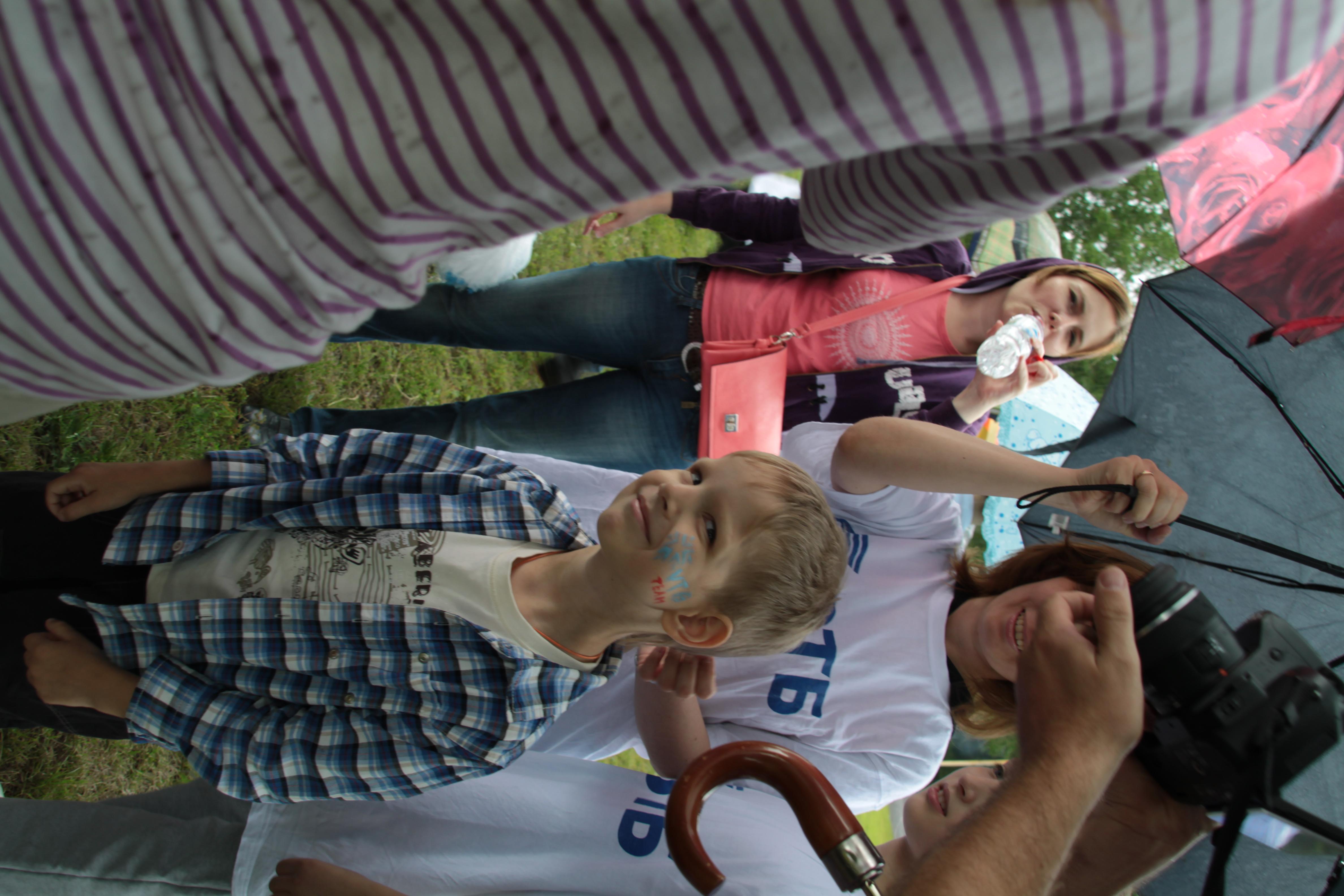 Ваня с логотипом VTB Team - ему очень понравилось и он был горд!