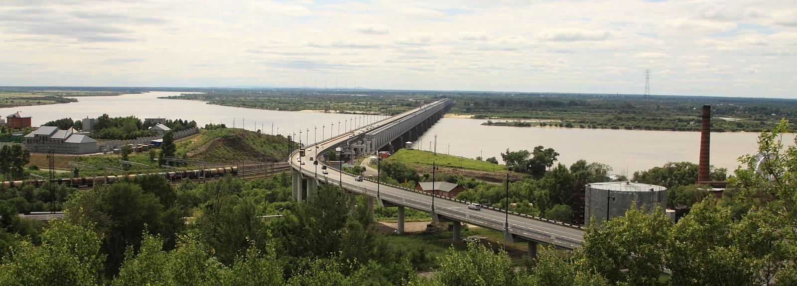 Мост через Амур. Панорама.